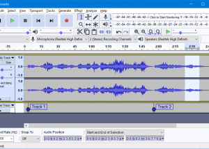 Audacity for Mac OS X Freeware