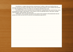 Full FocusWriter for Mac OS X screenshot